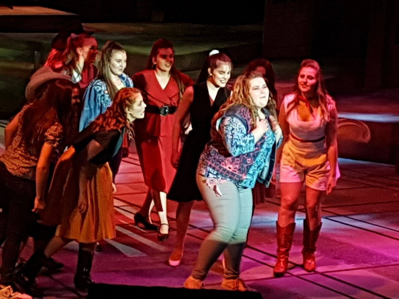 Avery Rex (Rusty) during her feature tune in Footloose: The Musical at Keyano Theatre