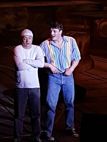 Mitch Jewkes (Ren) & Brodie Dransutavicius (Willard) in Footloose: The Musical at Keyano Theatre